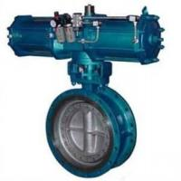 Pneumatic Metal Seat Butterfly Valves DN300 PN10 For Industrial Waste Water,WCB,CAST STEEL Manufactures