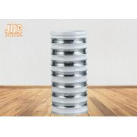 Quality Modern Style Cylinder Fiberglass Flower Pots With Silver Mirror Mosaic Finish for sale
