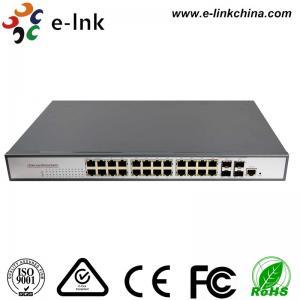 Industrial  Ethernet POE Switch:  24-port 10/100/1000Base-T + 2-port 1000Base-SFP/RJ45 Network Managed Manufactures