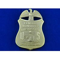 Brass Stamped Federal Bureau Investigation Badge, Clip Souvenir Badges with Die Cast, Die Struck, Stamped Manufactures