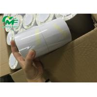 China 4*4 Inch Direct Thermal Label Roll Mirror Coated For Price Label Bio - Degradable on sale
