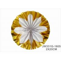 China Hot Gold Foil Paper Fan Wedding Decorations With Vibrant Bright Colors on sale