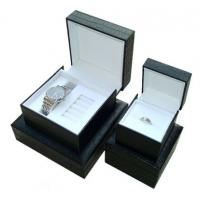 Decorating Black Gift Watch Packaging Box 4 * 4 * 3.5 Inch With Pu Leather Manufactures