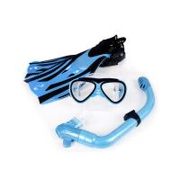 Blue Color Scuba Mask Fins And Snorkel Set For Underwater Adventure Manufactures