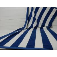 Factory Supply 100% cotton Yarn Dyed Jacquard Heavy Blue Stripe Pool Towel Manufactures