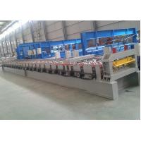 Decking Floor Step Tile Roll Forming Machine28 Roller Stations 2 Chain Transmission Manufactures