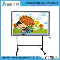 Factory best supply finger touch 10 users wrting simultaneously active board infrared whiteboard for school teaching Manufactures