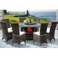 Outdoor rattan furniture round table and chair,outdoor garden dining table and chair Manufactures