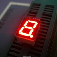 "High brightness ultra red 0.39"" Single Digit 7 Segment Led Display common cathode for instrument panel Manufactures"