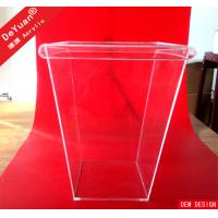 Square Plastic Garbage Container Acrylic Holder Stand Household Bin Manufactures