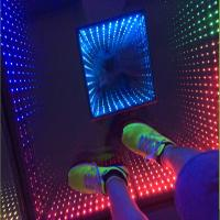 China China Wholesale Price Wifi DMX 3D Mirror 500x500 LED Portable Dance Floor For Disco DJ on sale