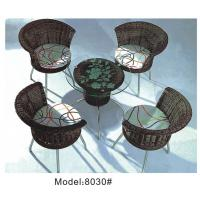 China 4 Armless chairs with wicker dining set -8030 on sale
