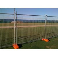 Temporary Security Fence Panels , Building Site Fencing 2.4m Length Manufactures