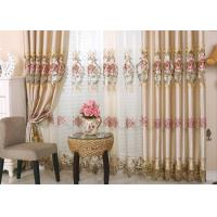 Beautiful Polyester Embroidered Fabrics Contemporary Curtain Fabric Manufactures