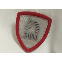 Custom Rubber Logo Patches Silicone Badge For Outdoor Wear / Shoes / Bags Manufactures