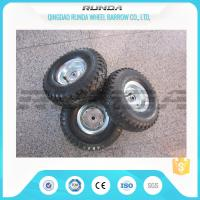 Quality Staright Valve Pneumatic Rubber Wheels , Pneumatic Caster Wheels 3.50-6 Steel Rim for sale