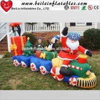 China Fashionable Christmas giant outdoor inflatable Santa Claus and inflatable man and car on sale