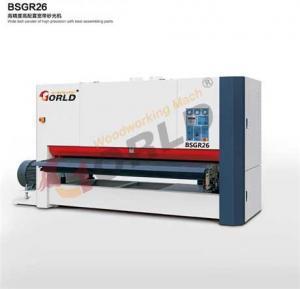 BSGR26 2600 mm Working Width 8 ft Width Plywood MDF Board One Side One Head Wide Belt Calibration Sander Manufactures