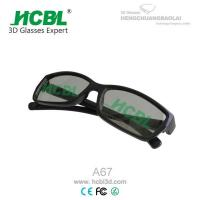 Linear Polarized Black 3D Glasses Manufactures