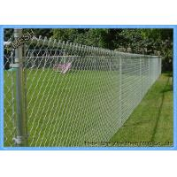Electro Galvanized Chain Link Fence Panels , Chain Wire Fencing For Building Materials Manufactures