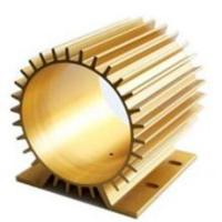 Golden Anodizing Hollow Extrusion Heat Sink Round Flat Square Manufactures