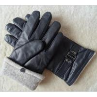 Wholesale Stock Classic Design genuine Leather men Goat Skin Leather Gloves Manufactures