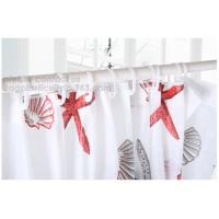 Home goods pure white shower curtains with plastic hook, Custom Printed Shower