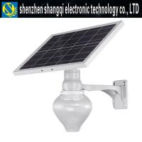 Die Casting 9W 12W 18W Solar Powered LED Street Lights For Yard 3000k - 6500k Manufactures