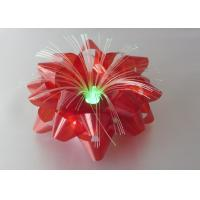 "Iridescent film Optical Fiber LED Ribbon Bow , 3.75"" Lighting LED Gift Bow Manufactures"
