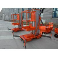 China Aerial Work Platform Lifter For Painting Incline Aluminium Alloy Electric Hydraulic Mast Telescopic Lift on sale
