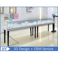 Simple Wood Glass Jewelry Display Cases With Lock For Retail Store Manufactures