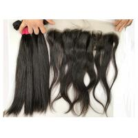 18inch Silky Straight with Lace Frontal 100% Brazilian Virgin Hair Extensions Manufactures