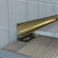 Brushed Finish Gold Stainless Steel Trim Strip 201 304 316 wall ceiling frame Manufactures