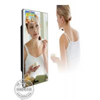 Washroom Magic Mirror LCD TV Screen Video Advertisement Display With Motion Sensor Manufactures