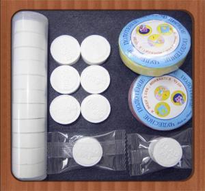 China 10pcs/tube packing 100% mesh spunlace white nonwoven fabric compressed towel round shape on sale