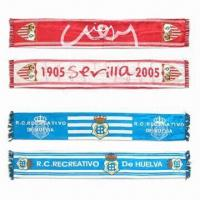 Fan Scarves, Made of Satin Polyester Manufactures