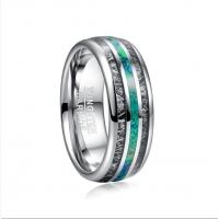 Buy cheap 2019 Nuncad 8mm Width Men's Ring Wedding Band Engagement Ring Inlaid Black from wholesalers