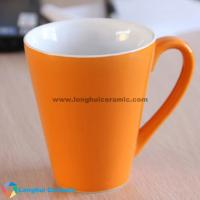 China Matte two-tone promotional ceramic mug supplied by China exporter on sale