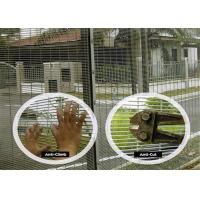 Green PVC Coated 358 Security Fencing Anti Climb Rectangle Hole For Villa Building Manufactures