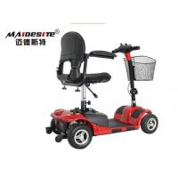 Outdoor Red Mobility Scooter / Folding Mobility Scooter 6km/Hour Max Speed
