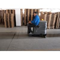 Small Recharged Ride On Compact Floor Scrubber Machine For Medium Area Cleaning Manufactures