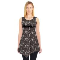 Women'S Plus Size Sleeveless Tunics , Extra Long Tunic Tops For Leggings Asymmetrical Sweep Manufactures