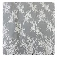 Beautiful white Nylon Eyelash Elastic Lace Trim / Decorative Lace Trim Manufactures