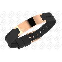 China Shiny Stainless Steel Bracelets Power Silicone and NdFeb Magnets on sale