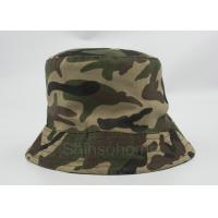 Reversible 100 % Cotton Camo Bucket Hats Fishing Printed Customizable Manufactures