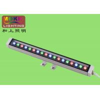 China 18w l1000 * w76 * h76mm 10 - 45 Degrees Led Wall Wash Lighting For Archway, Court on sale