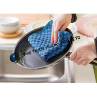 Soft Check Pattern Microfiber Kitchen Cleaning for Household Cleaning 25*50 cm
