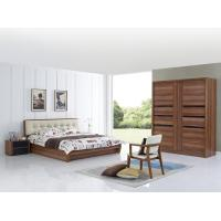 Quality Cheap FSC Certificated Good quality Upholstery headboard bed with wood storage bottom and Sliding door wardrobe for sale
