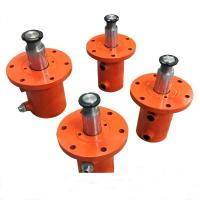China Single Acting Welded Hydraulic Cylinders For Hydraulic Press Front Flange Mount on sale