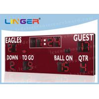 American Type Electronice Digital LED Football Scoreboard in Red Color Manufactures